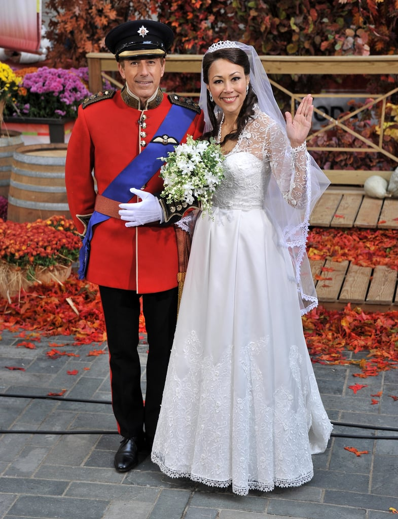 Matt Lauer as Prince William with Ann Curry as Kate Middleton.