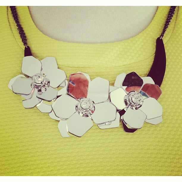 This cool bib necklace was one of our favourite pieces from the River Island collection.