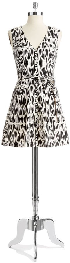Tracy Reese Black-and-White-Print Dress