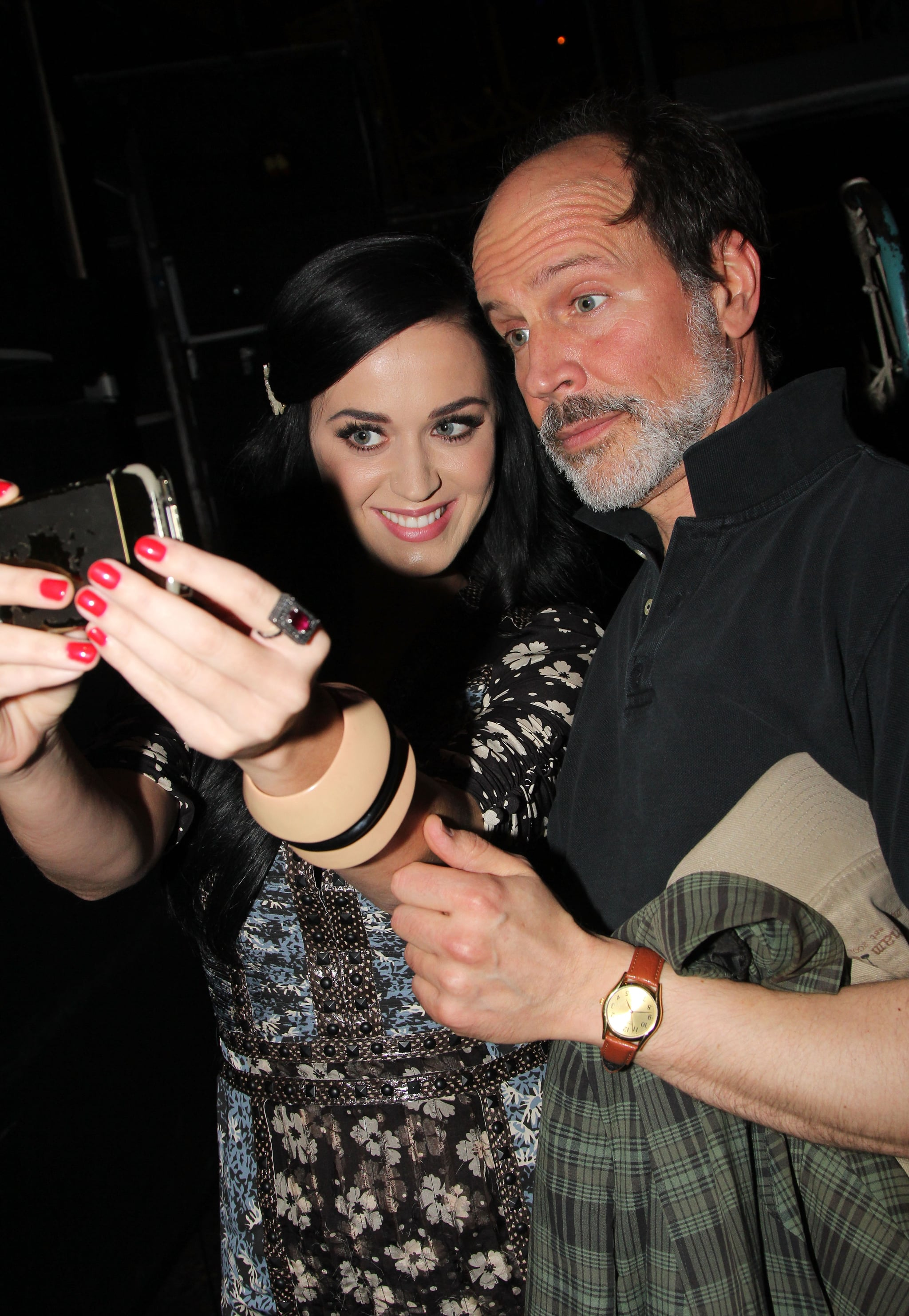Katy Perry put on her best grin for a self-taken snap with Marcus Neville during a stop to see Kinky Boots on Broadway in May 2013.