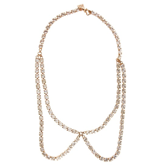 Maria Francesca Pepe Gold Collar Necklace, $345