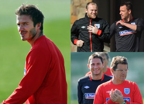 Pictures of David Beckham at a Training Session With the England World Cup Team in South Africa Ahead of Slovenia Match