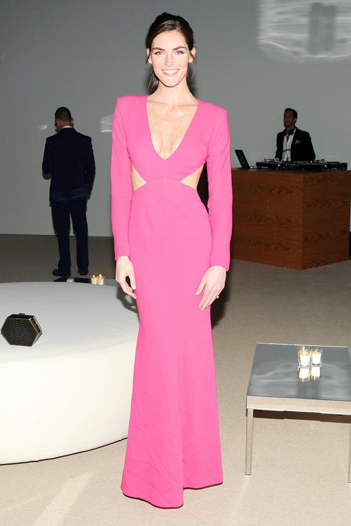 Hilary Rhoda in Rachel Roy at the CFDA/Vogue Fashion Fund Awards.