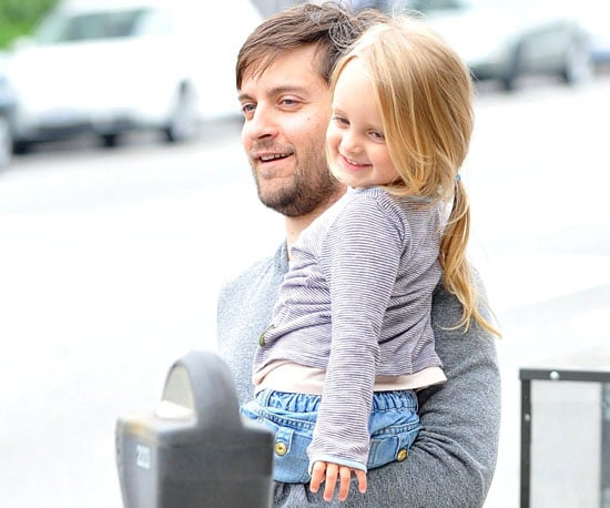 Slide Picture of Tobey and Ruby Maguire Smiling in LA