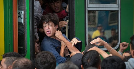 Photos, Video Show Frantic Crowds At Budapest Train Station