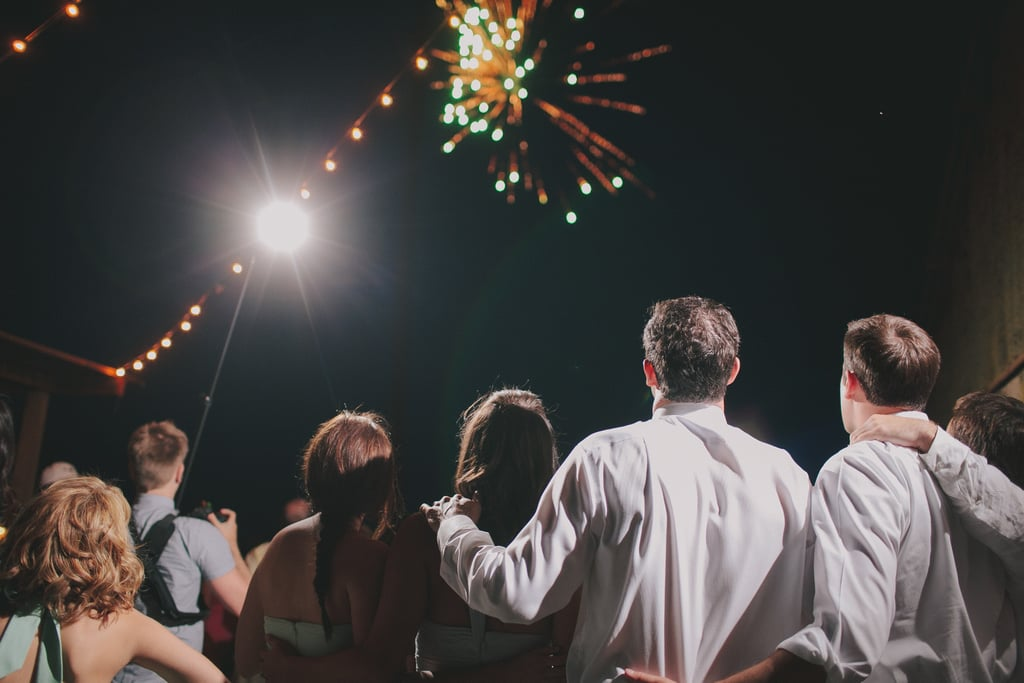 This Central California wedding ended with a bang!
