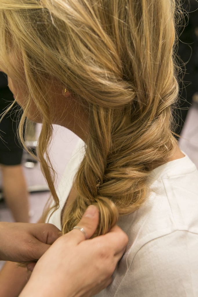 Before you secure with an elastic, muss up the braid a little with your fingers to get a slightly imperfect look.