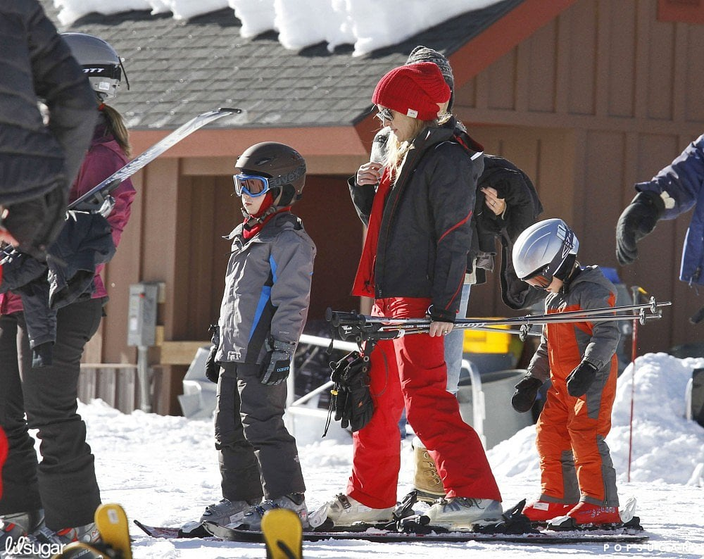 Kate Hudson waited in line for the ski lift with Ryder back in December 2011.