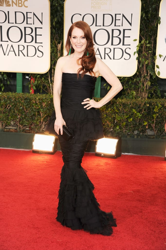 Julianne Moore on the red carpet in Chanel.
