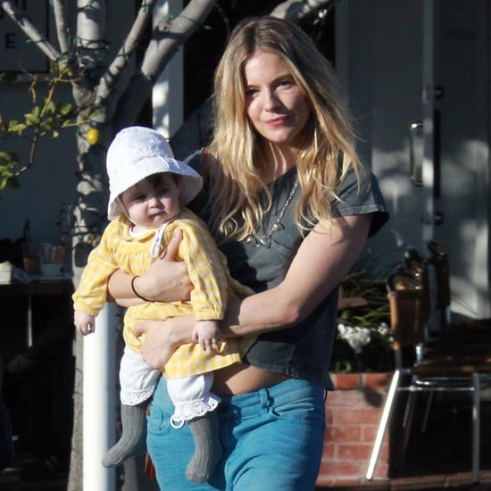 Sienna Miller With Baby Marlowe at Fred Segal in LA