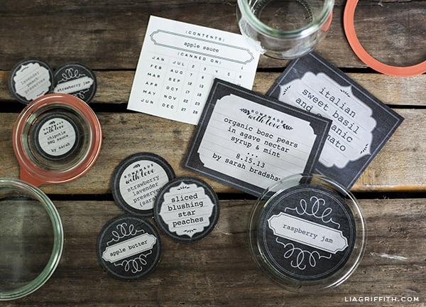 Chalkboard Labels by Lia Griffith