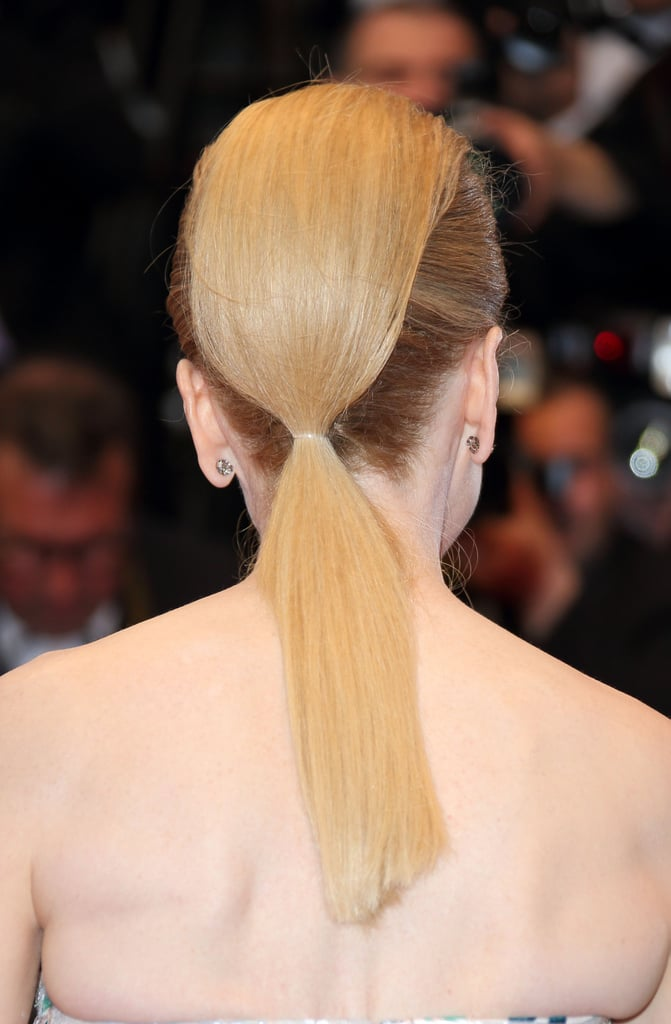 And Nicole Kidman's ponytail and pompadour combination had an architectural feeling.