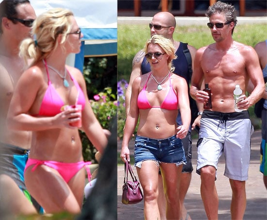 Pictures of Britney Spears in a Pink Bikini in Hawaii With Jason