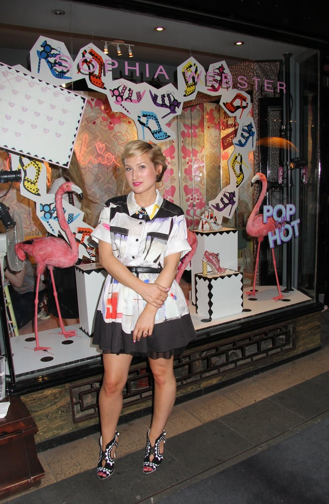 Sophia Webster was well-heeled at her London pop-up shop.