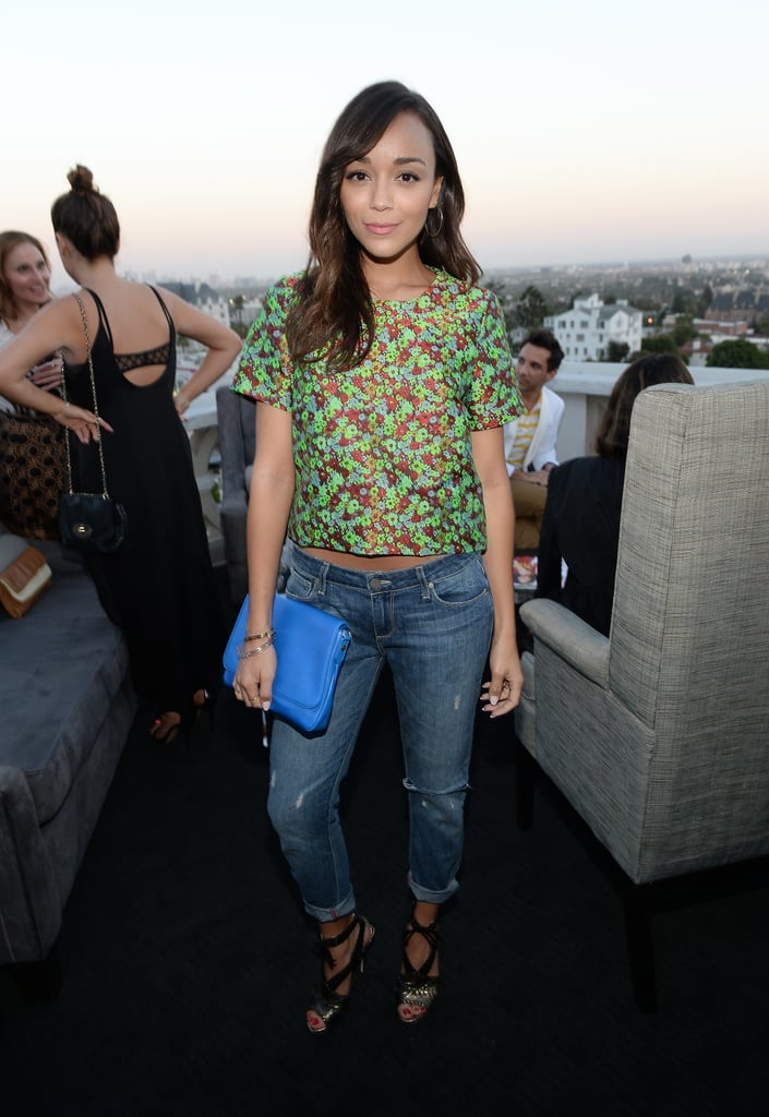 Ashley Madekwe at InStyle's celebration of the Elizabeth and James Fall 2013 handbag collection in Los Angeles.