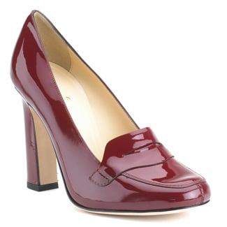 A daintier shape and vibrant red patent leather makes this a truly ladylike pair.   Kate Spade Jolene Ruby Patent Leather Loafer Pump ($298)