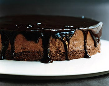 Recipe: Chocolate-Glazed Hazelnut Mousse Cake
