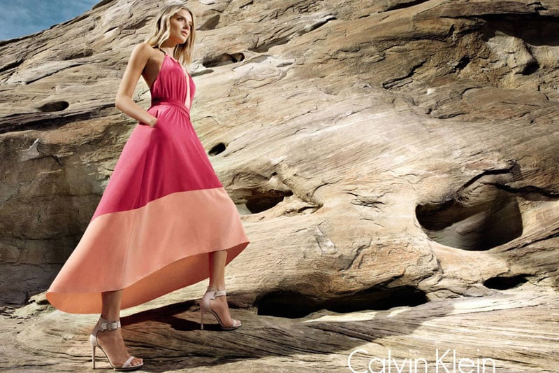 Lily Donaldson went modern for Calvin Klein's Spring ad.
