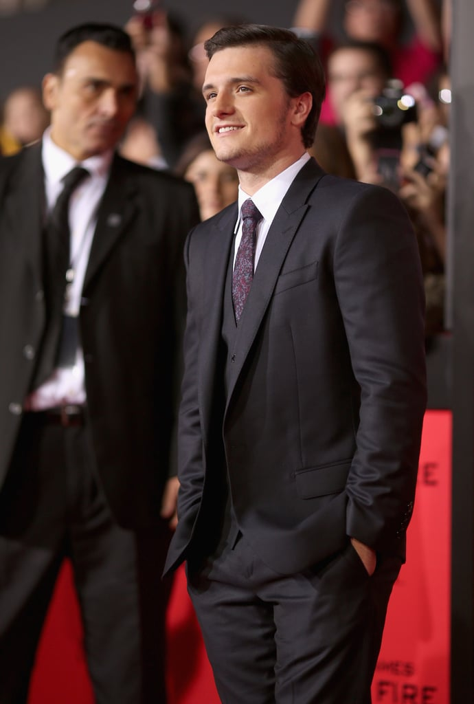 Josh Hutcherson suited up for the cameras.