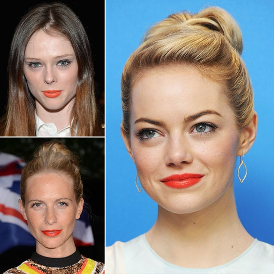 Still stuck on your soft-coral lipstick for Spring? Spice things up by opting for a flaming-orange lip instead this season.