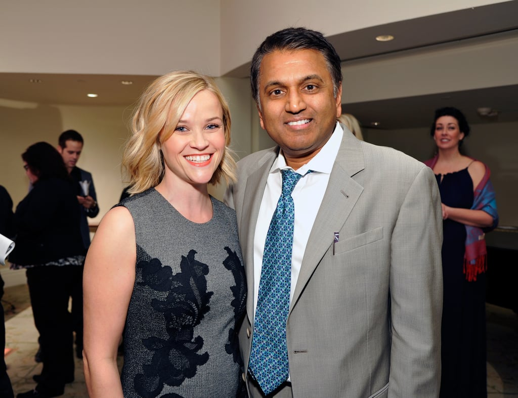 Reese Witherspoon chatted with honoree Dr. Balaji Govindaswami.