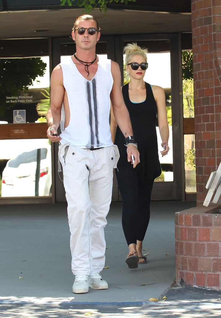 Gavin Rossdale and Gwen Stefani picked up lunch together.