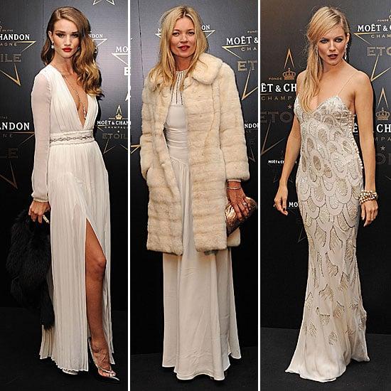 Qui est la plus stylée entre Rosie, Kate, et Sienna à la soirée Moet & Chandon à Londres ?