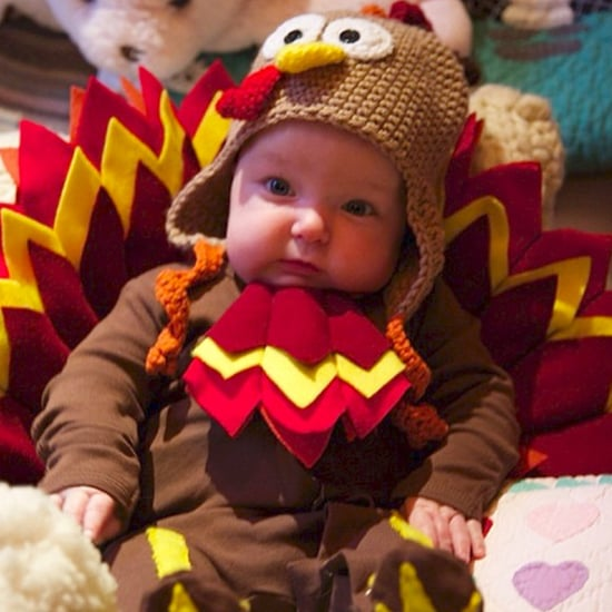 Babies in Thanksgiving Turkey Costumes