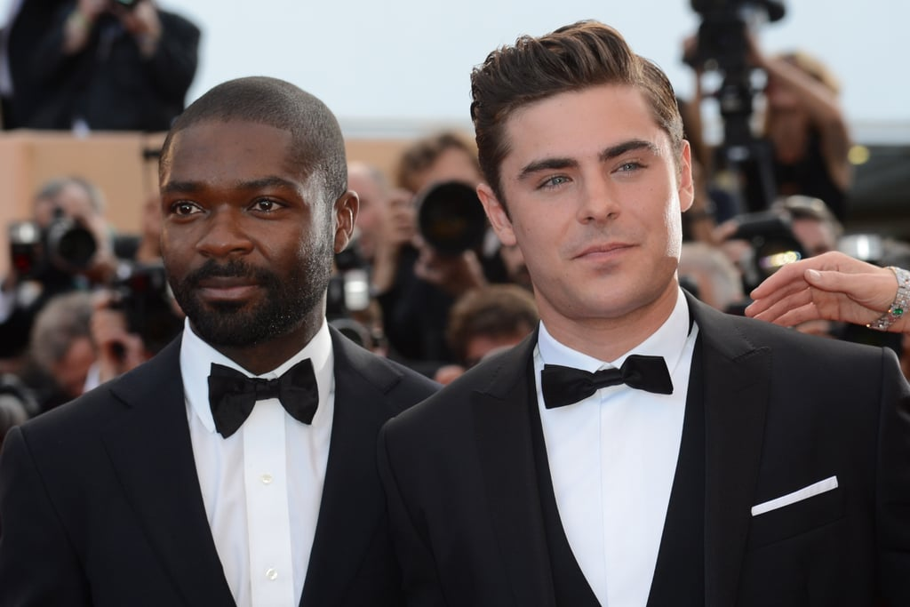 Zac Efron and David Oyelowo arrived at the premiere of The Paperboy in Cannes.