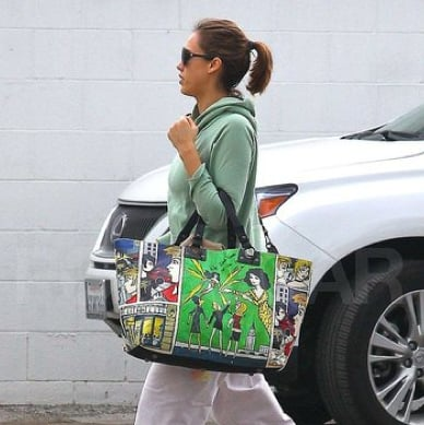 Pictures of a Pregnant Jessica Alba Visiting a Gym in West Hollywood