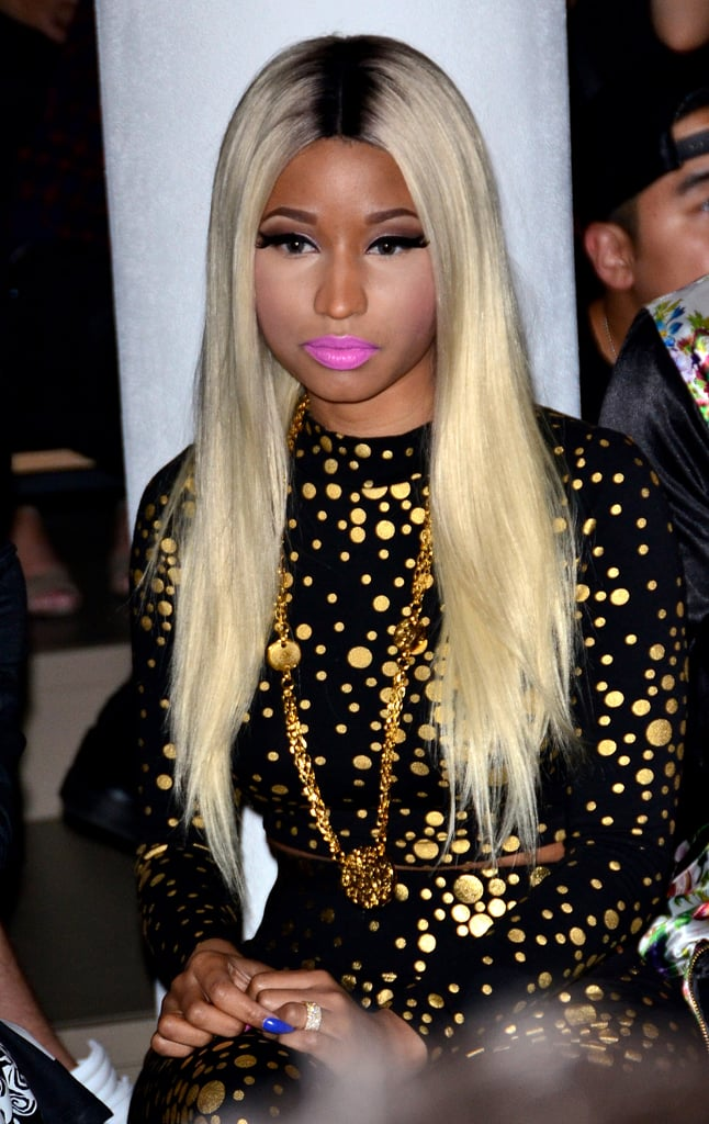Although she's tried a whole bunch of looks in the past, we happen to like this on-purpose straight style for Nicki Minaj.