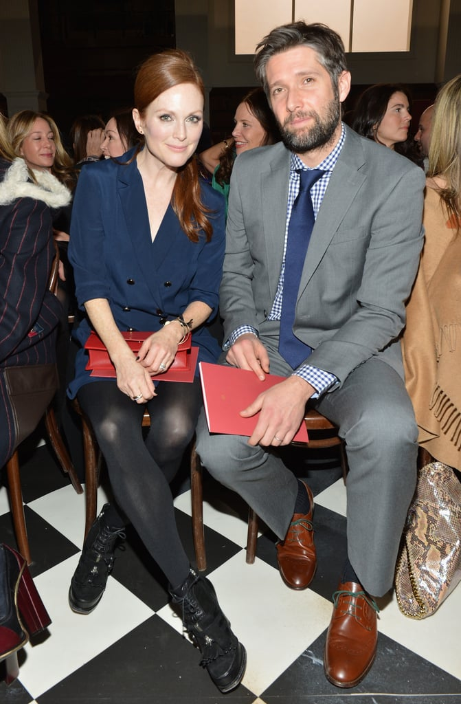 Julianne Moore sat next to Bart Freundlich at Tommy Hilfiger's women's collection fashion show in NYC in February.