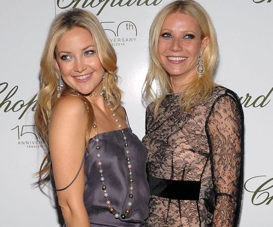 Picture of Kate Hudson Without A Bra Posing With Gwyneth Paltrow At Chopard Event