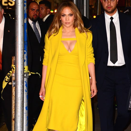 Jennifer Lopez Wearing Yellow Dress in NYC May 2016