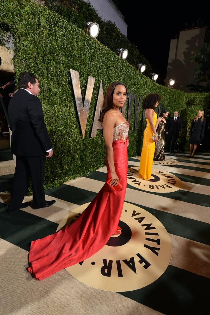 Kerry Washington arrived at the Vanity Fair Oscar party on Sunday night.