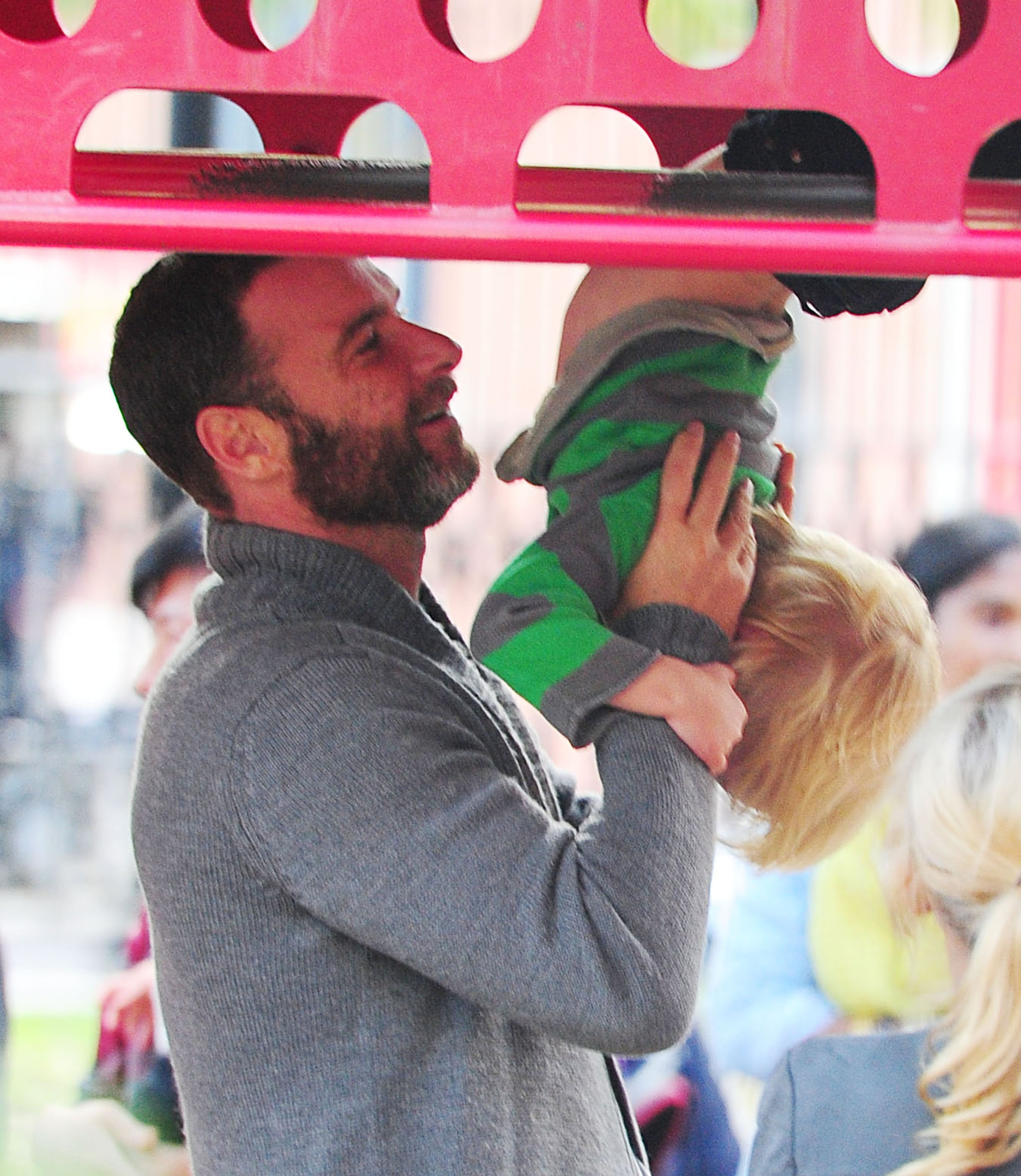 Liev Schreiber watched over his son Kai at the playground in NYC.