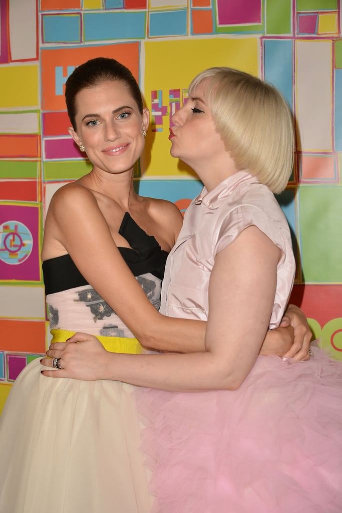 Lena Dunham showed love to Allison Williams at the HBO party.
