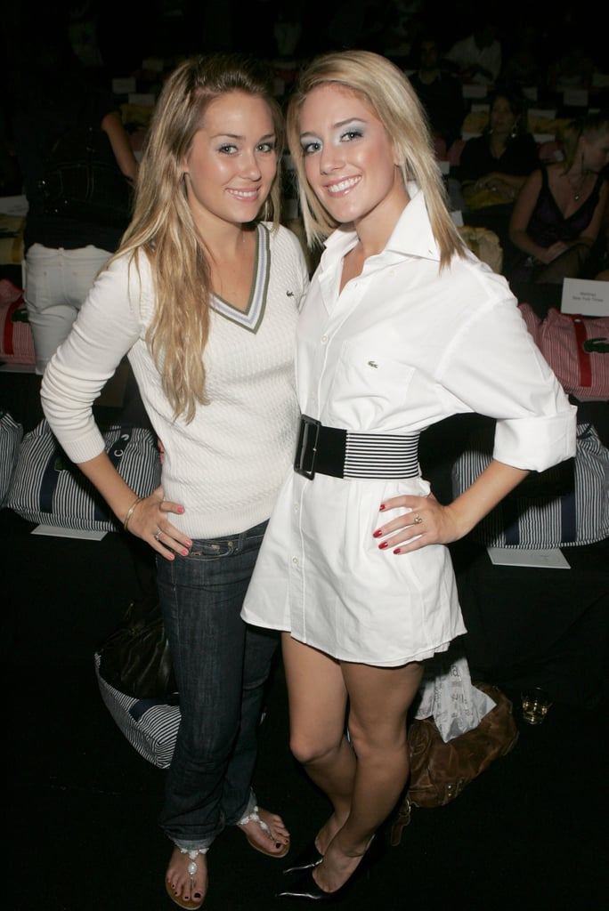 Lauren Conrad and Heidi Montag dressed the part for Lacoste's Spring show at Bryant Park in September 2006.