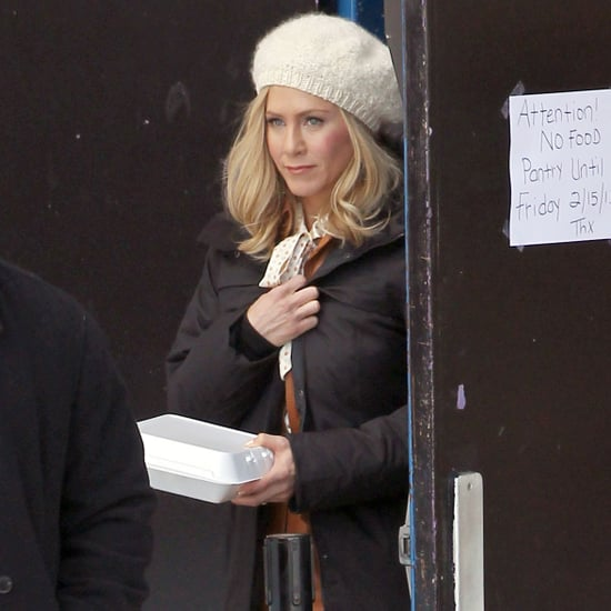 Jennifer Aniston on Set in Connecticut