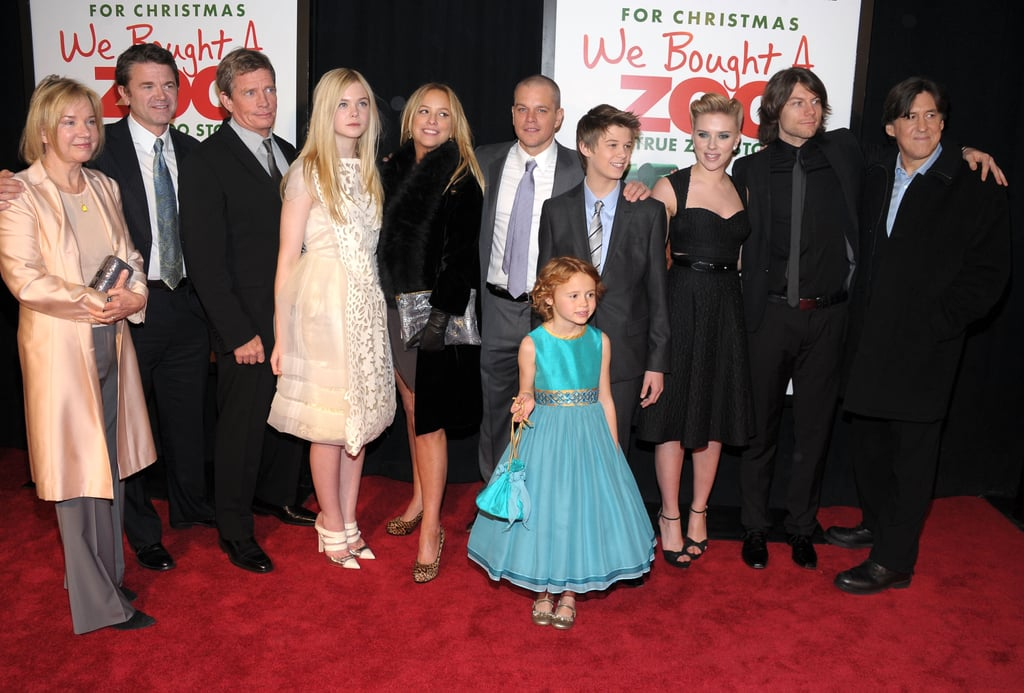 Matt Damon, Elle Fanning, Scarlett Johansson, Thomas Haden Church, and Cameron Crowe were with the rest of the We Bought a Zoo cast in NYC.