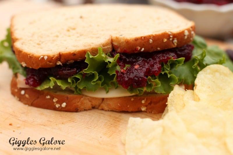 Turkey Sandwich With Chipotle Cranberry Sauce