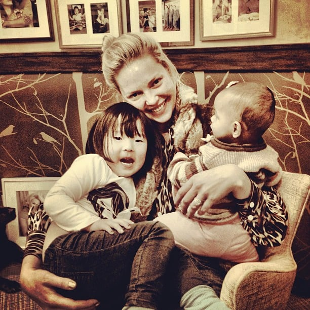 Katherine Heigl shared a sweet moment with her daughters, Naleigh and Adalaide. Source: Instagram user joshbkelley
