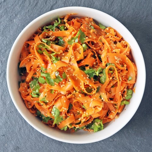 Vinegar Carrots With Toasted Sesame Seeds