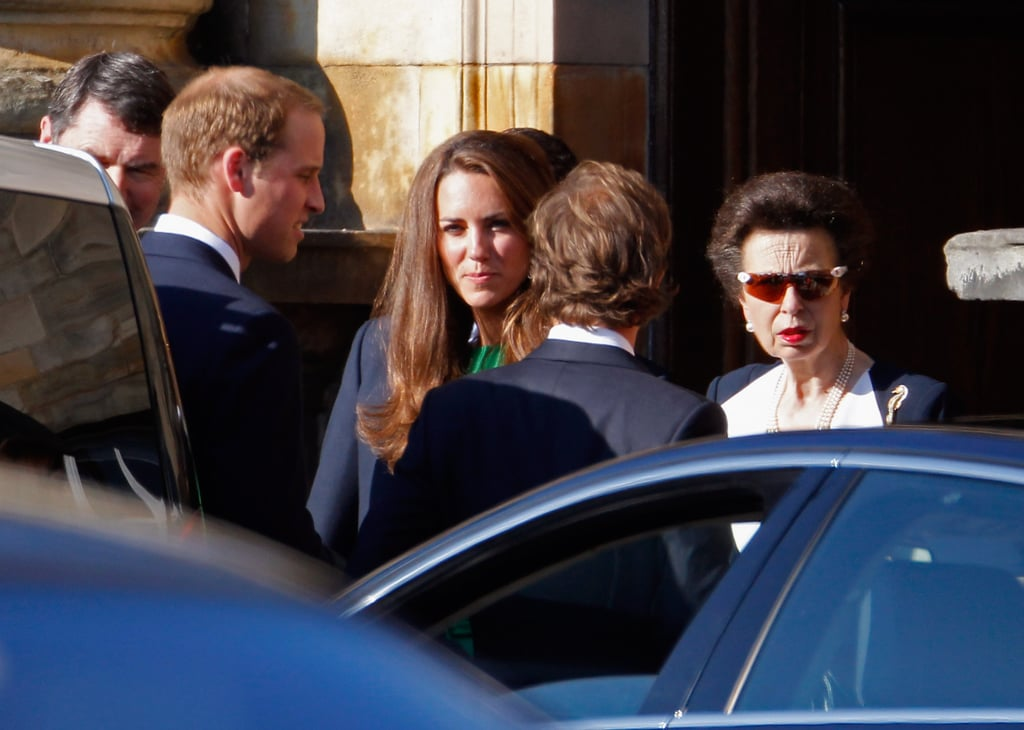 Kate Middleton and Prince William with Princess Anne.