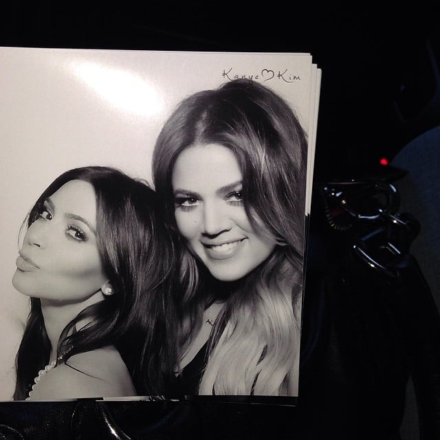 Kim and Khloé took a sisters-only snap. Source: Instagram user khloekardashian
