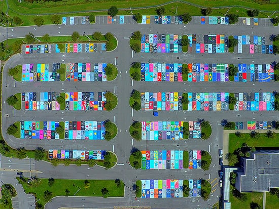 Senior Pranks Are So Old School - Florida Students Create Works of Art with Painted Parking Lot Spaces Instead!