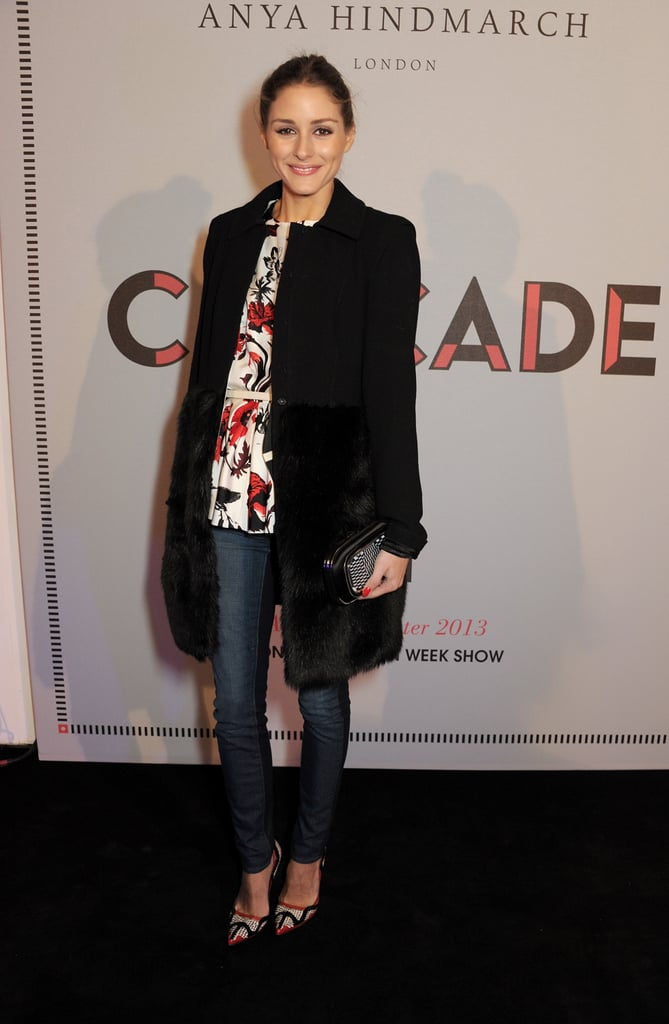 Olivia Palermo at the Anya Hindmarch Fall 2013 show in London.