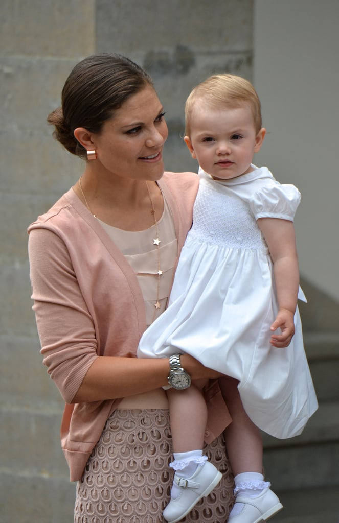 Crown Princess Victoria of Sweden and her daughter, Princess Estelle, attended Victoria Day celebrations at Solliden Castle.