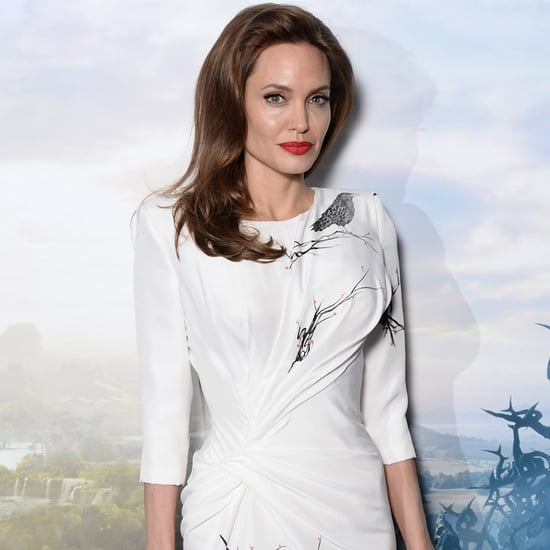 Angelina Jolie Bloody Shoes at Maleficent Photocall