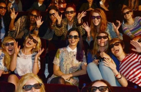 Katy Perry attended a surprise screening of her new 3D movie. Source: Twitter user katyperry